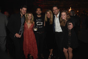 Patty Hanson, Charles Esten, Taylor Puskar pose with friends during the Big Machine Label Group's celebration of the 50th Annual CMA Awards at Marathon Music Works on November 2, 2016 in Nashville, Tennessee.