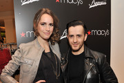 TV personality Louise Roe and designer Kinder Aggugini attend Macy's Celebration  of their 1st Designer Collaboration with Kinder Aggugini at Macy's Herald Square on February 15, 2011 in New York City.