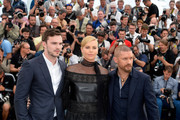 "(L-R) Nicholas Hoult, Charlize Theron and Tom Hardy attend a photocall for ""Mad Max: Fury Road"" during the 68th annual Cannes Film Festival on May 14, 2015 in Cannes, France."