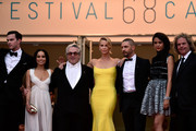 "Nicholas Hoult, Zoe Kravitz,Georges Miller,Charlize Theron,Tom Hardy and Doug Mitchell attend Premiere of ""Mad Max: Fury Road"" during the 68th annual Cannes Film Festival on May 14, 2015 in Cannes, France."