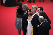 "Zoe Kravitz, Charlize Theron, Tom Hardy, Nicholas Hoult and George Miller attend Premiere of ""Mad Max: Fury Road"" during the 68th annual Cannes Film Festival on May 14, 2015 in Cannes, France."