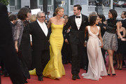 """Georges Miller,Charlize Theron, Nicholas Hoult and Zoe Kravitz attend Premiere of """"Mad Max: Fury Road"""" during the 68th annual Cannes Film Festival on May 14, 2015 in Cannes, France."""