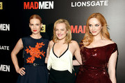 """(L-R) January Jones, Elisabeth Moss and Christina Hendricks attend the """"Mad Men"""" New York Special Screening at The Museum of Modern Art on March 22, 2015 in New York City."""