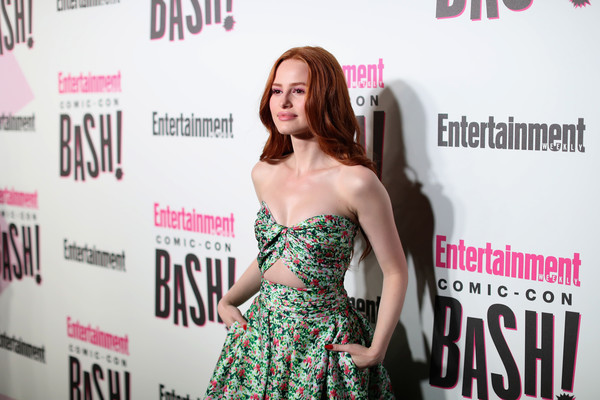 Entertainment Weekly Hosts Its Annual Comic-Con Party At FLOAT At The Hard Rock Hotel In San Diego In Celebration Of Comic-Con 2018 - Arrivals [entertainment weekly hosts its annual comic-con party at float at the hard rock hotel,san diego in celebration of comic-con 2018 - arrivals,clothing,premiere,dress,red carpet,fashion,carpet,shoulder,long hair,fashion design,event,madelaine petsch,float,san diego,california,hard rock hotel,entertainment weekly,hbo,comic-con bash]