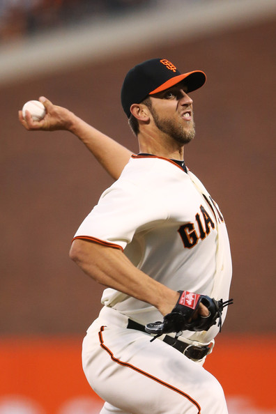 madison bumgarner of the san francisco giants pitches in first tattoo. Black Bedroom Furniture Sets. Home Design Ideas