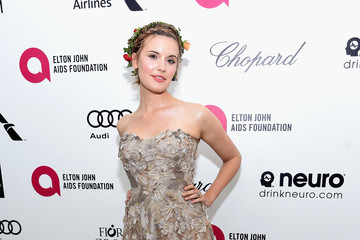 Maggie Grace Arrivals at the Elton John AIDS Foundation Oscars Viewing Party — Part 3