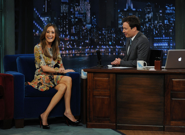 "Maggie Q Actress Maggie Q and host Jimmy Fallon visit ""Late Night With Jimmy Fallon"" at Rockefeller Center on May 4, 2011 in New York City."