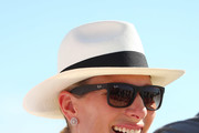 Zara Phillips pose poses on Surfers Paradise beach during the Magic Millions Barrier Draw on January 9, 2018 in Gold Coast, Australia.