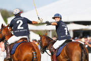 Zara Phillips celebrates after scoring a goal at the Magic Millions Polo Event  on January 8, 2017 in Gold Coast, Australia.