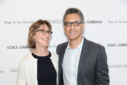 "Actors Katherine Borowitz and John Turturro attend the ""Magic In The Moonlight"" premiere at the Paris Theater on July 17, 2014 in New York City."