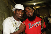 Rickey Smiley - Rickey Smiley Show and Recording Artist Pastor Troy backstage at Magnum Live Large Project at Phillips Arena on June 19, 2010 in Atlanta, Georgia.