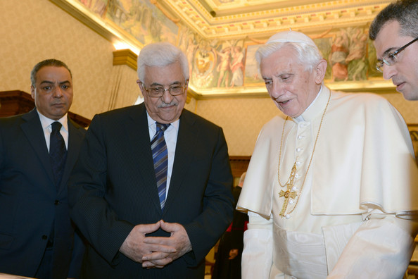 Pope Benedict XVI Meets With Palestinian President Mahmoud Abbas
