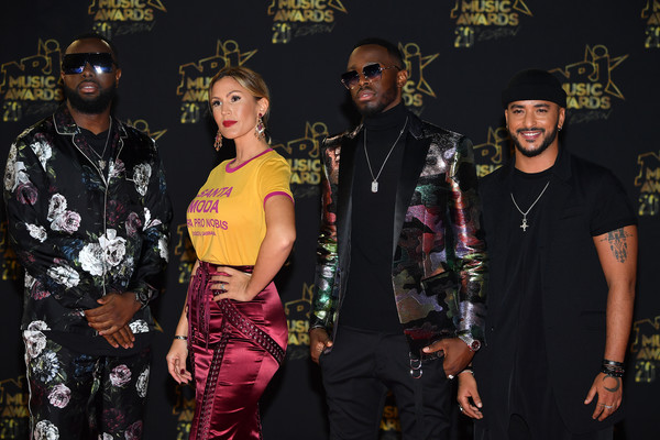 20th NRJ Music Awards - Red Carpet Arrivals [red carpet arrivals,fashion,event,performance,costume,november 10,maitre gims,vitaa,dadju,l-r,france,cannes,palais des festivals,nrj music awards]