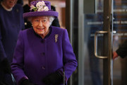 Queen Elizabeth II arrives for a visit to the International Maritime Organization (IMO) to mark the 70th anniversary of its formation on March 6, 2018 in London, England.