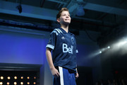 Jacob Tremblay walks the runway during the unveiling of the MLS/Adidas 2020 Club Jersey's at Penn Plaza Pavilion on February 05, 2020 in New York City.