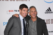 Gary Lineker and Steven Gerrard attend the World Premiere of 'Make Us Dream' at The Curzon Mayfair on November 14, 2018 in London, England.