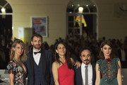 "(L-R) Actress Ingrid Garcia Jonsson, actor Julian Villagran, actress Barbara Goenaga, director Koldo Serra and actress Maria Valverde attend ""Julie"" premiere during the 19th MAlaga Film Festival on April 26, 2016 in Malaga, Spain."