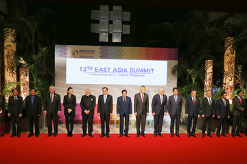Malcolm Turnbull Lee Hsien Loong 31st Southeast Asian Nations (ASEAN) Summit in the Philipppines