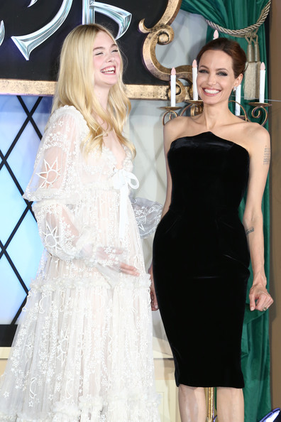 Photo of Angelina Jolie & her friend actress  Elle Fanning - Maleficent