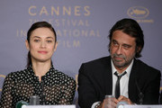 "Olga Kurylenko and Jordi Molla attends ""The Man Who Killed Don Quixote"" Press Conference during the 71st annual Cannes Film Festival at Palais des Festivals on May 19, 2018 in Cannes, France."