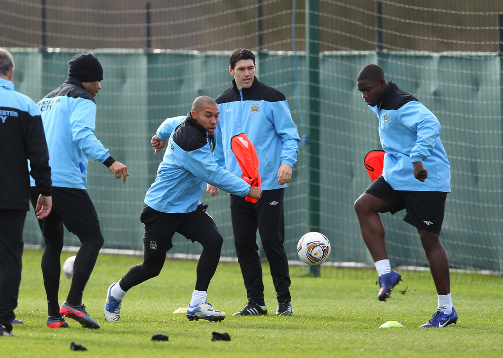 micah richards in manchester city training zimbio. Black Bedroom Furniture Sets. Home Design Ideas