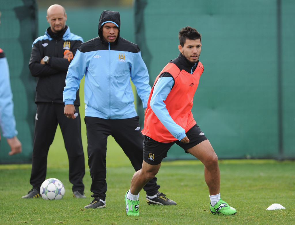 manchester city training and press conference zimbio. Black Bedroom Furniture Sets. Home Design Ideas