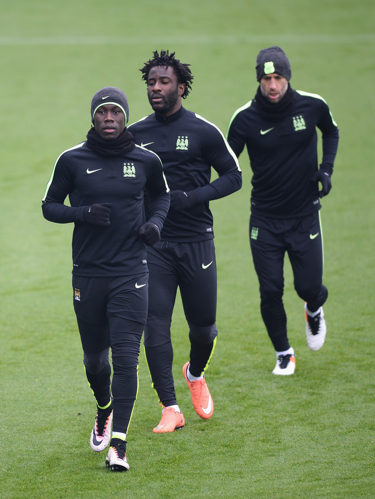 Wilfried Bony s s Manchester City Training Session and