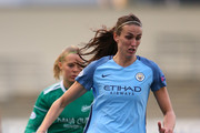 Jill Scott of Manchester City during the UEFA Women's Champions League match between Manchester City and Fortuna at City Academy on March 30, 2017 in Manchester, England.