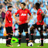 (R-L)Wayne Rooney, Michael Carrick and Danny Welbeck of Manchester United look dejected during the Barclays Premier League match between Manchester City and Manchester United at the Etihad Stadium on September 22, 2013 in Manchester, England.