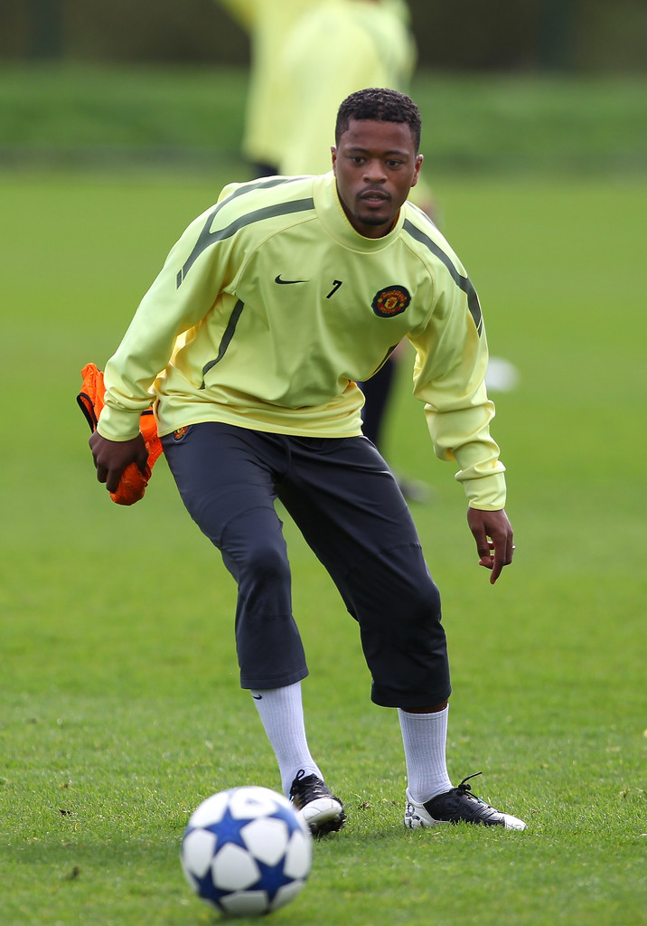 patrice evra in manchester united training zimbio. Black Bedroom Furniture Sets. Home Design Ideas