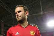 Juan Mata #8 of Manchester United earns player of the game after the International Champions Cup game against the Club America at the University of Phoenix Stadium on July 19, 2018 in Glendale, Arizona.