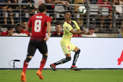 Luis Reyes #12 of Club America in action during the International Champions Cup game against the Manchester United at the University of Phoenix Stadium on July 19, 2018 in Glendale, Arizona.