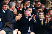 Sir Alex Ferguson applauds fans prior to the Premier League match between Manchester United and Wolverhampton Wanderers at Old Trafford on September 22, 2018 in Manchester, United Kingdom.