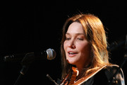 Carla Bruni-Sarkozy performs during the dress rehearsal for Mandela Day: A 46664 Celebration Concert at Radio City Music Hall on July 18, 2009 in New York City.