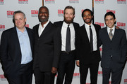 "Doug Hughes, Andre Braugher, Jay Wilkison, Andre Holland and Matthew Lopez attend the party for the Manhattan Theatre Club's ""The Whipping Man"" opening night at the Beacon on February 1, 2011 in New York City."