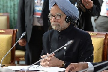 Manmohan Singh Arrivals at the BRICS Delegation