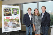(L-R) Robert Redford, director Maro Chermayeff and producer Jamie Redford attend the Mann V. Ford screening at Time Warner Center Screening Room on July 11, 2011 in New York City.