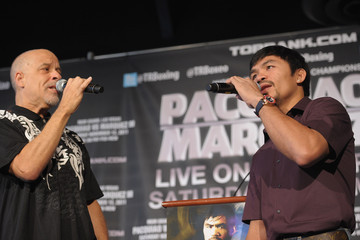 Dan Hill Manny Pacquiao And Juan Manuel Marquez Press Conference