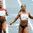 Carmelita Jeter and Veronica Campbell Brown
