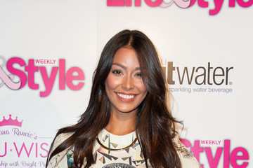 Manuela Arbelaez Life & Style's Hollywood in Bright Pink Event