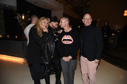 """(L-R) Producer Katharina Otto-Bernstein, Architect Peter Marino and Directors Fenton Bailey and Randy Barbato attend """"Mapplethorpe: Look At The Pictures"""" New York Premiere at Time Warner Center on March 22, 2016 in New York City."""