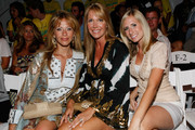 TV personality Dina Manzo, Paige Sreenan and Stephanie Gramling attend the Mara Hoffman 2010 fashion show during Mercedes-Benz Fashion Week Swim at the Beachway at The Raleigh on July 18, 2009 in Miami Beach, Florida.