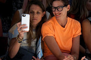Courtney Crangi (L) and Creative Director and President of J.Crew Jenna Lyons attend Mara Hoffman Spring 2016 during New York Fashion Week: The Shows at The Gallery, Skylight at Clarkson Sq on September 12, 2015 in New York City.