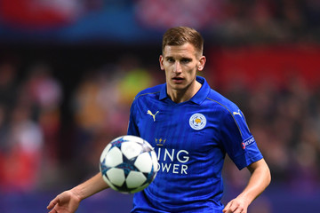 Marc Albrighton Sevilla FC v Leicester City - UEFA Champions League Round of 16: First Leg