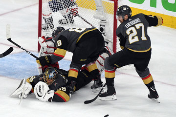 Marc-Andre Fleury Shea Theodore 2018 NHL Stanley Cup Final - Game Five