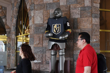 Marc-Andre Fleury Las Vegas Strip Shows Support For Vegas Golden Knights During Stanley Cup Playoffs Run