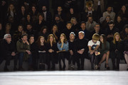 Gabriele Corcos, Debi Mazar, guest, Sandra Bernhard, Connor Dodd, Robert Duffy, Anna Wintour, Bee Shaffer, Virginia Smith attend the Marc Jacobs Fall 2016 fashion show during New York Fashion Week at Park Avenue Armory on February 18, 2016 in New York City.
