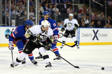 Marc Staal Sidney Crosby Pittsburgh Penguins v New York Rangers - Game Six