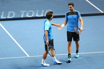 Marcel Granollers Marc Lopez Barclays ATP World Tour Finals - Day One