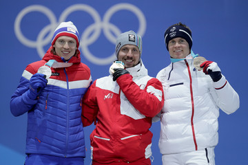 Marcel Hirscher Medal Ceremony - Winter Olympics Day 9